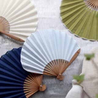 西川庄六商店 |ガーゼ素材のふわり扇子