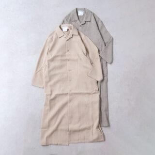 YAECA ヤエカ |パジャマシャツ ロング【全2色】