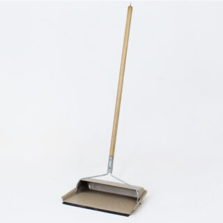 Fulton フルトン |Steel Dustpan With Handle And Rubber Edge