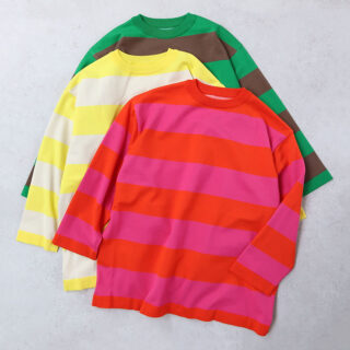 maillot マイヨ |wide border long-T【全3色】