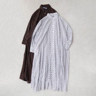 OLDMANS TAILOR オールドマンズテーラー  CANDY FLOWER PRINT LONG SHIRT【全2色】
